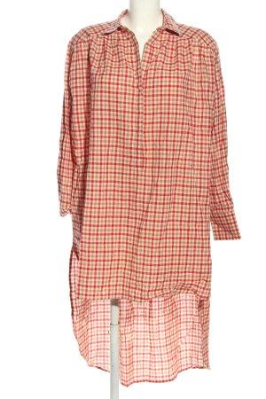 MUNTHE Blusenkleid wollweiß-rot Allover-Druck Casual-Look