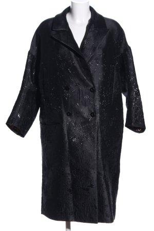 MUNTHE Manteau court noir motif abstrait élégant