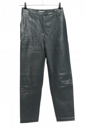 MUNTHE Leather Trousers light grey casual look