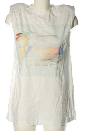 MUNTHE Długi top biały Nadruk z motywem W stylu casual