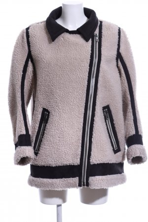Munthe Plus Simonsen Oversized Jacke creme-schwarz Casual-Look