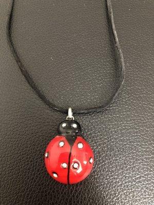 Murano Collar estilo collier negro-rojo