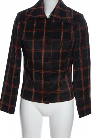 Murek Fashion Blouse Jacket black-light orange allover print casual look
