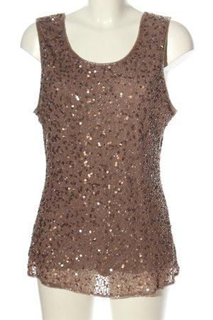 Murek Fashion Blusa de seda marrón elegante