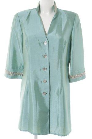 Murek Long-Blazer hellblau-wiesengrün extravaganter Stil