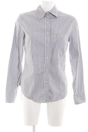 Murphy & nye Hemd-Bluse hellgrau-weiß Streifenmuster klassischer Stil