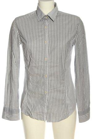 Murphy & nye Camicia a maniche lunghe bianco-nero motivo a righe stile casual
