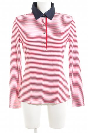Murphy & nye Lang shirt rood-wit gestreept patroon casual uitstraling