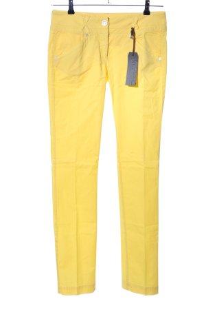 Murphy & nye Pantalone jersey giallo pallido stile casual