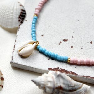 Shell Necklace multicolored metal