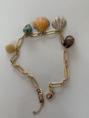 Mango Collar de conchas multicolor