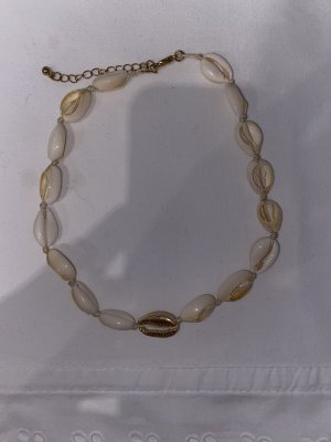 Shell Necklace cream-gold-colored