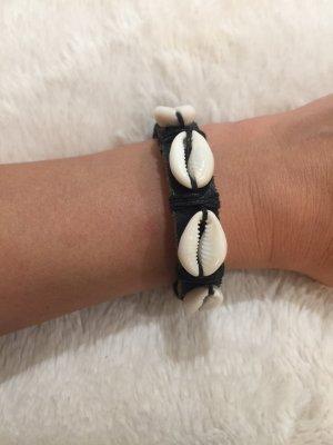 Muschel / Leder Armband