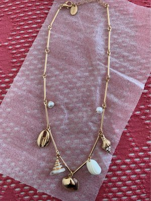 Mango Shell Necklace white-gold-colored