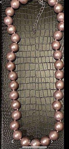 Naszyjnik z muszelek srebrny-w kolorze różowego złota