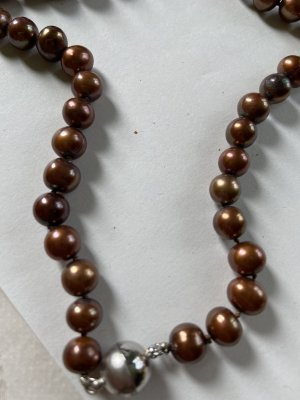 Collana di conchiglie marrone-argento