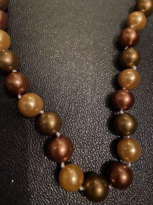 Collana di conchiglie marrone-bronzo