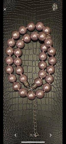 Naszyjnik z muszelek w kolorze różowego złota-srebrny
