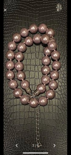 Collar de conchas color rosa dorado-color plata