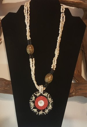 Shell Necklace black-red