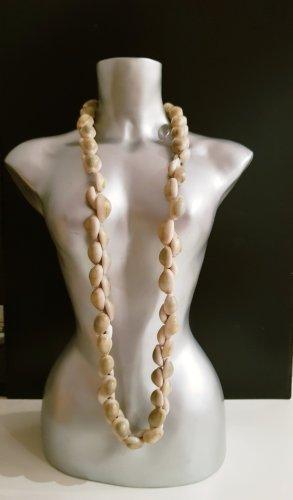 Vintage Collana di conchiglie beige-beige chiaro