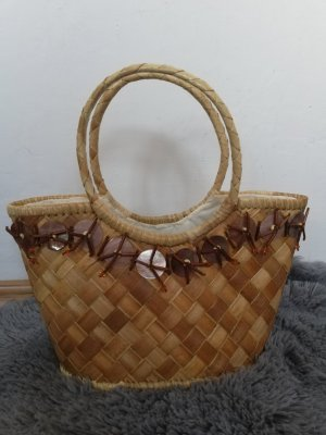 Made in Italy Bolso tipo cesta multicolor