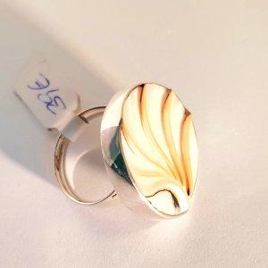 Muschelring Silber 925er - Gr. verstellbar 54 - 59 - NEU