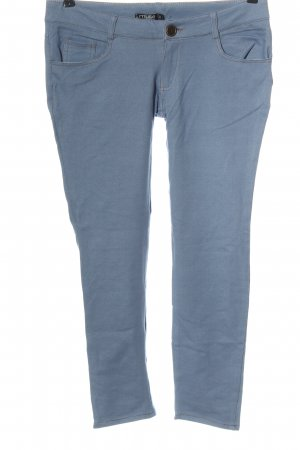 Muse 7/8 Length Trousers blue flecked casual look