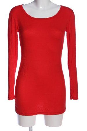 Muse Manica lunga rosso stile casual