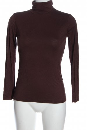 Muse Turtleneck Shirt brown casual look