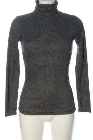 Muse Turtleneck Shirt light grey flecked casual look