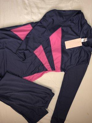 Capo da spiaggia rosa-viola scuro