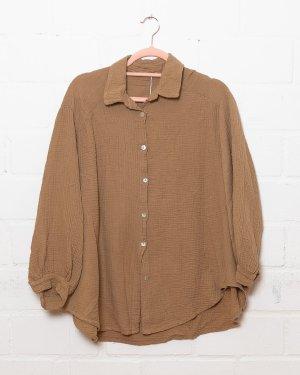 Shirt Blouse cognac-coloured