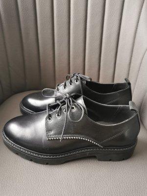Bianco Lace Shoes black leather