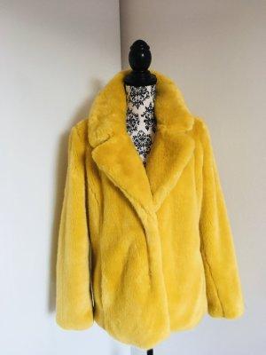 Must Have kuschelige Fake Fur Winterjacke Plüsch in Hinguckerfarbe