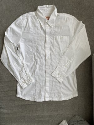 mustang basic oversize look hemd / bluse in weiß