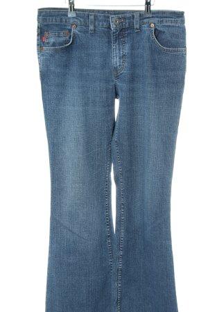 Mustang Boot Cut Jeans blau Casual-Look