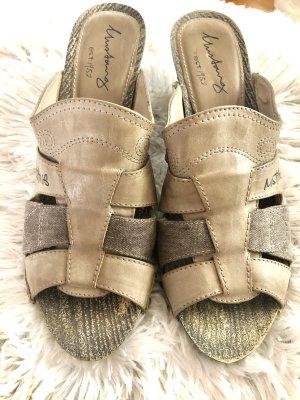 Mustang Clog Sandals grey brown-dark grey