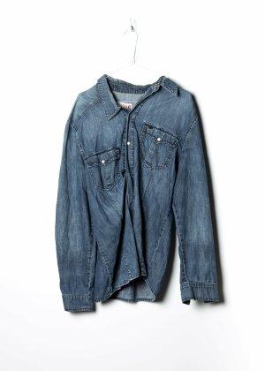 Mustang Chemise à manches longues bleu jean