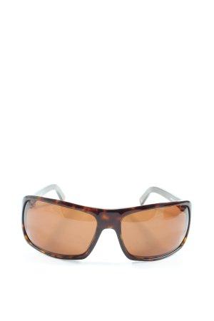 Mustang Angular Shaped Sunglasses brown-light orange animal pattern casual look