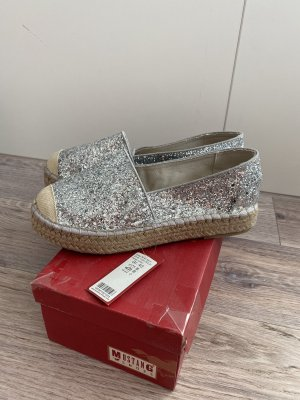 Mustang Espadrille Sandals silver-colored