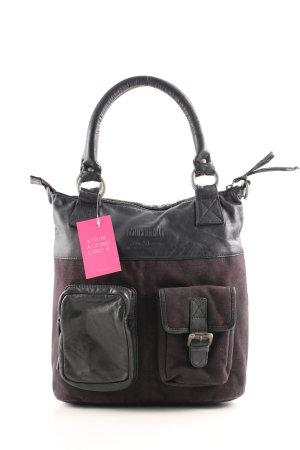 Mustang Handtasche pink-schwarz Business-Look