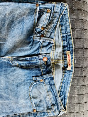 Mustang Jeans vita bassa blu fiordaliso-blu acciaio