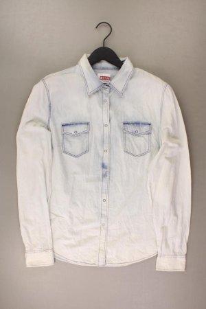 Mustang Jeansbluse Größe 44 Langarm blau aus Baumwolle