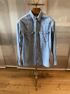 Mustang Chemise en jean bleu clair