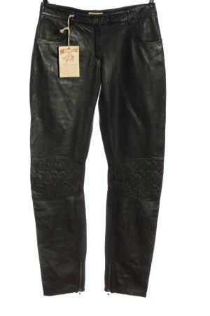 Mustang Pantalon en simili noir style décontracté