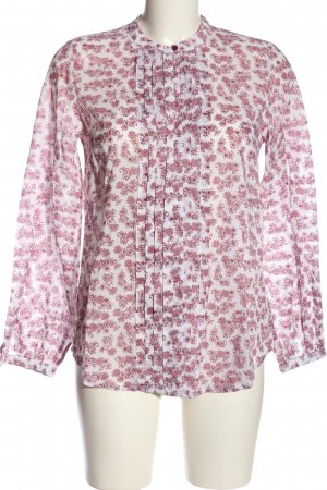Mustang Langarm-Bluse pink-weiß Allover-Druck Casual-Look