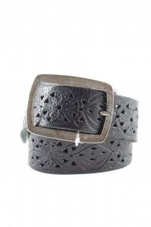 Mustang Leather Belt black casual look