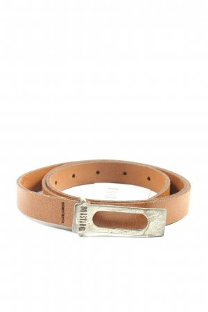 Mustang Leather Belt nude casual look