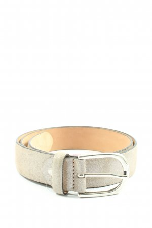 Mustang Leather Belt light grey casual look